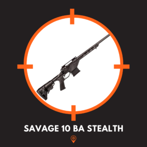 This is a picture of the savage 10 ba stealth rifle.