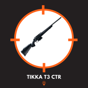This is a picture of a great priced long range rifle, the Tikka t3 ctr.