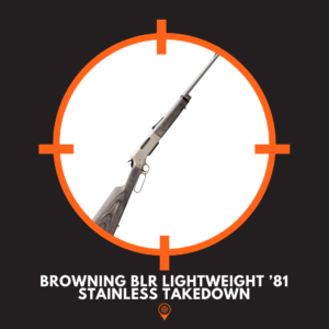 Picture of Browning BLR Lightweight '81 Stainless Takedown lever action rifle.