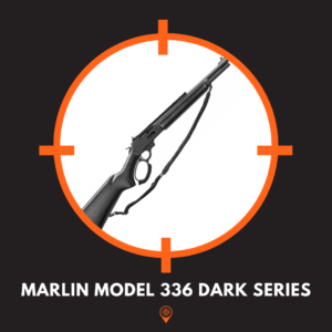 Picture of model 336 dark series lever action rifle.